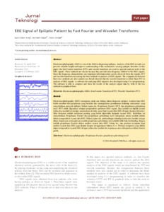 EEG signal of epiliptic patient by fast Fourier and wavelet